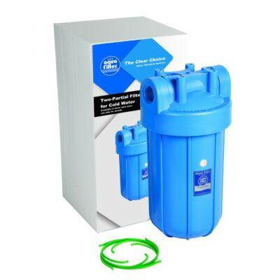 """Aquafilter 10"""" Big Blue szűrőház hideg vízre, 1"""" bekötéssel"""