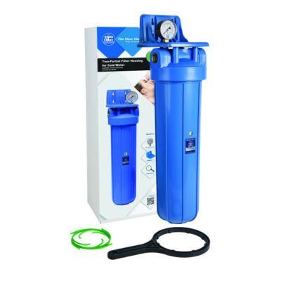 """Aquafilter 20"""" Big Blue szűrőház 1"""" réz bekötési mérettel"""
