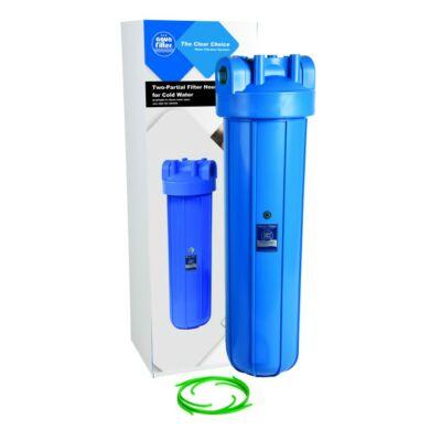 """Aquafilter 20"""" Big Blue szűrőház hideg vízre, 6/4"""" műanyag bekötéssel"""