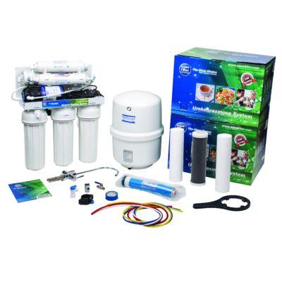 Aquafilter FRO 5MPJG ozmózis víztisztító berendezés nyomásrásegítő szivattyúval