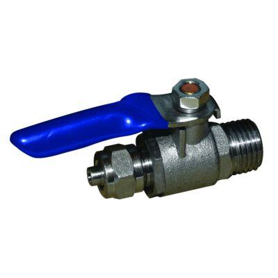 Rendszerfeltöltő golyós csap 1/4″ cső és 1/4″ külső menetes csatlakozással