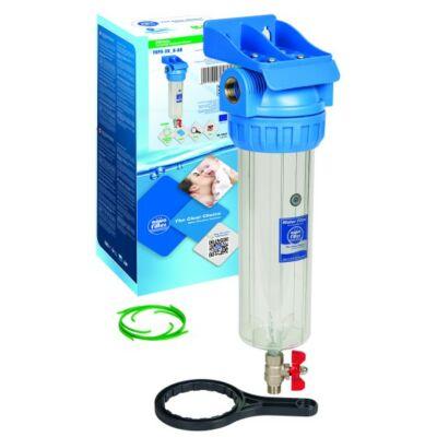 """Aquafilter 10"""" szűrőház készlet ürítő csappal"""
