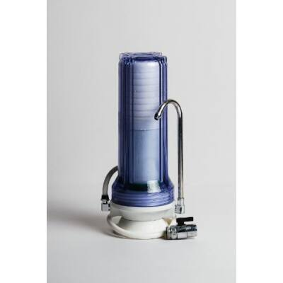 Asztali víztisztító – ajándék KDF szűrővel, menetátalakítóval, szűrőház kulccsal